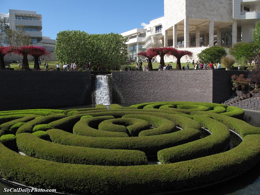 Getty Center garden maze picture
