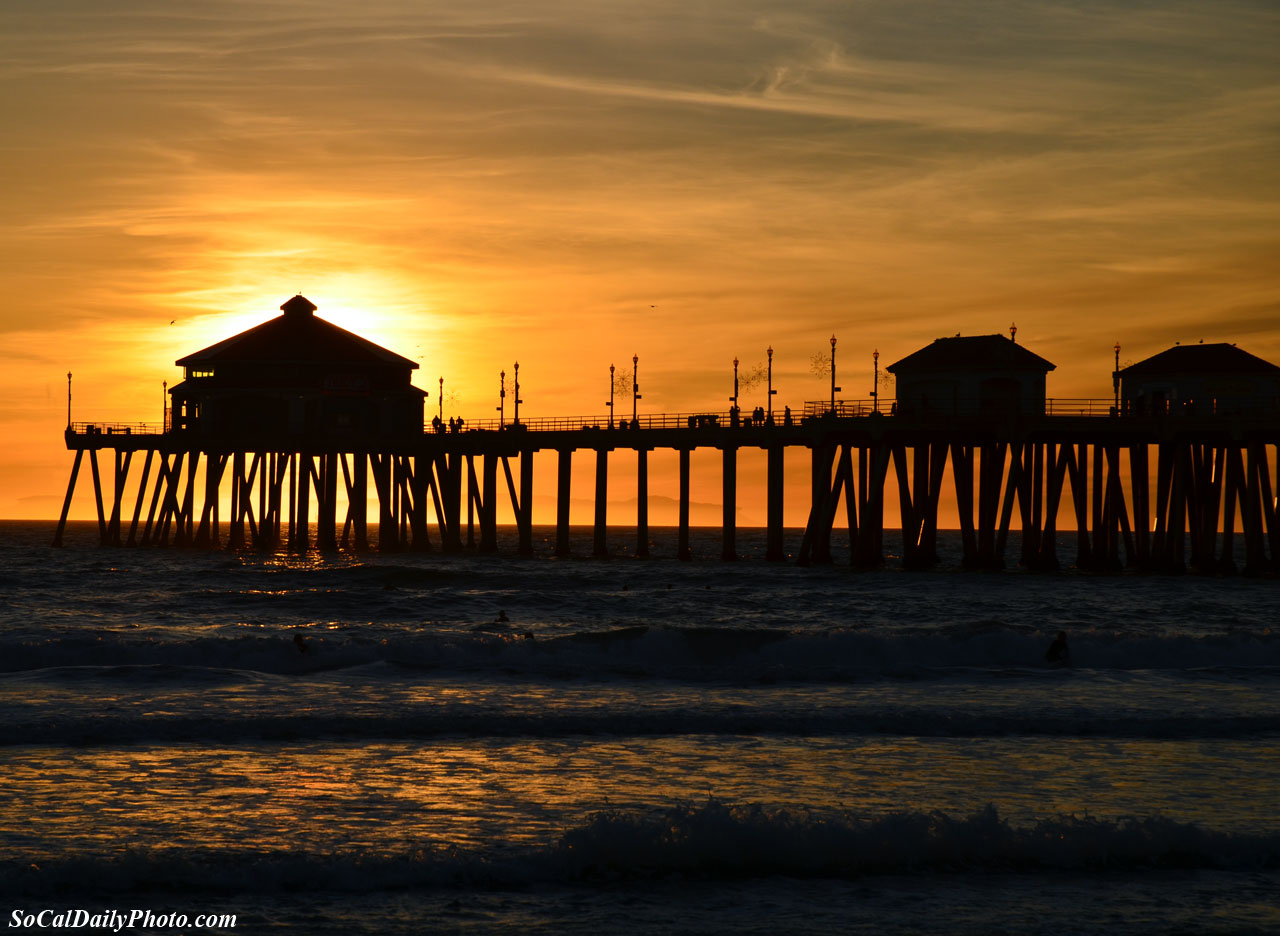 Huntington Beach Pier At Sunset Southern California Daily Photo