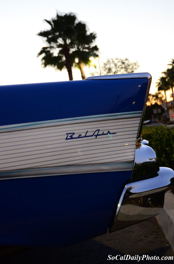 Blue Chevrolet Bel Air tail