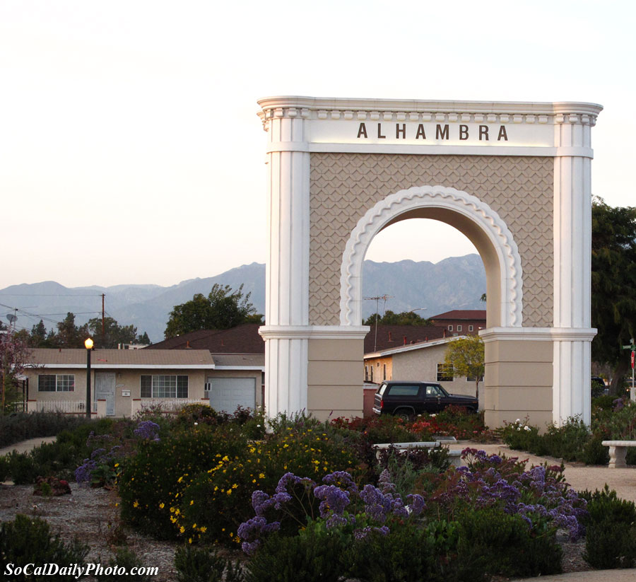 City of Alhambra Arch on Valley Blvd