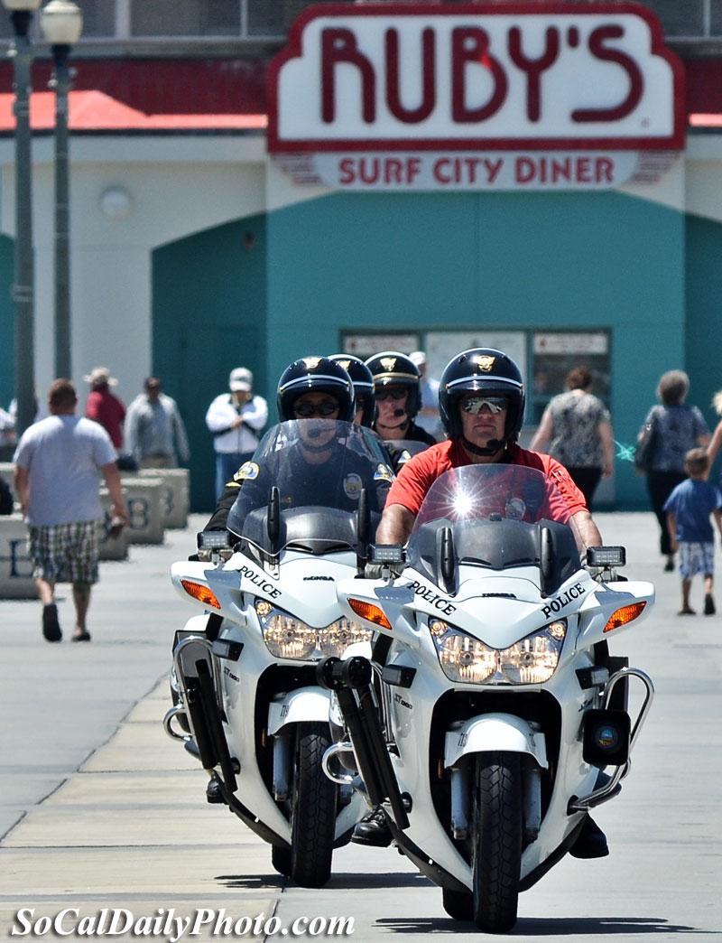 Anaheim motorcyle police trainees