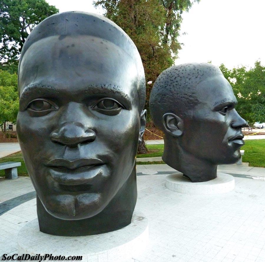 bronze sculptures Centennial Square Pasadena