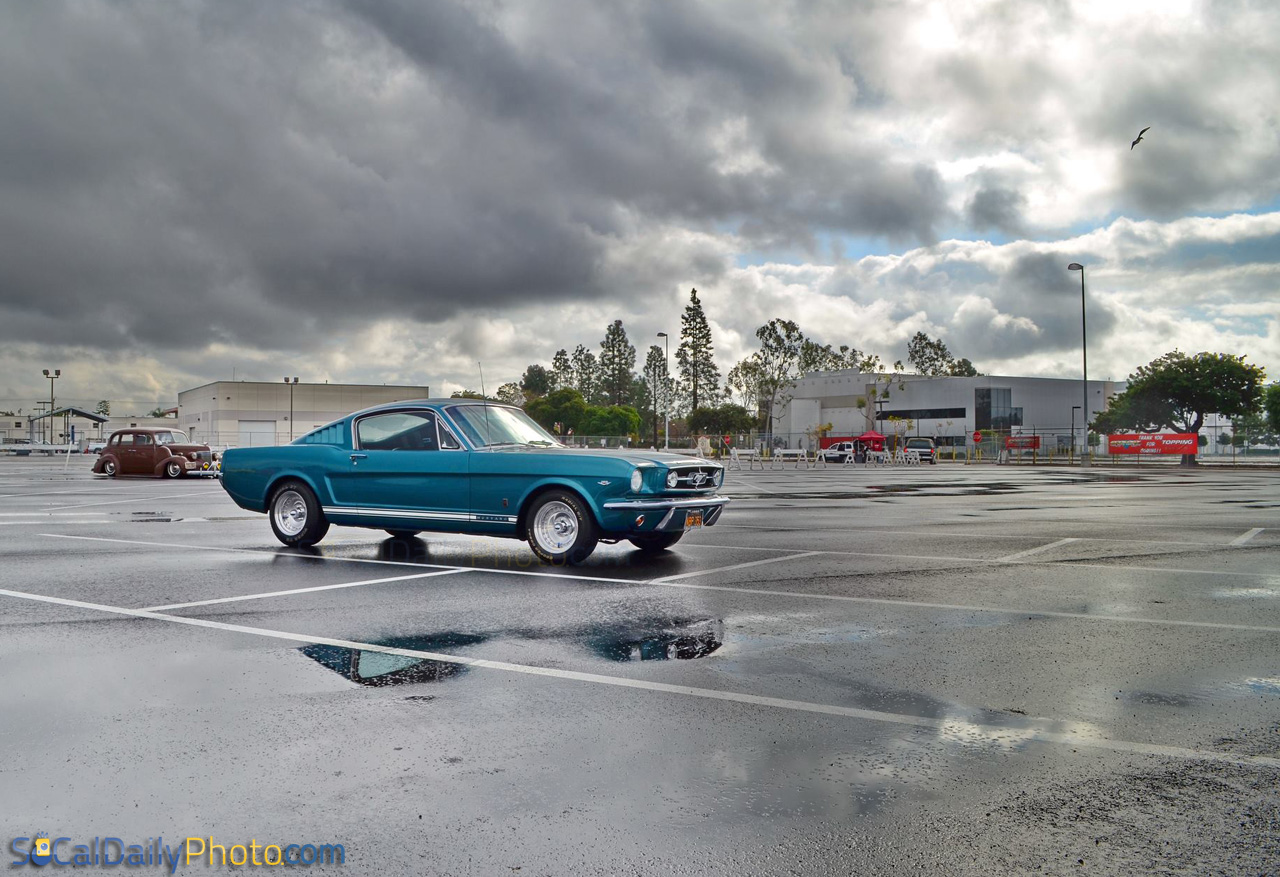 Long Beach Swap Meet >> Blue Mustang Fastback At The Long Beach Hi Performance Swap Meet