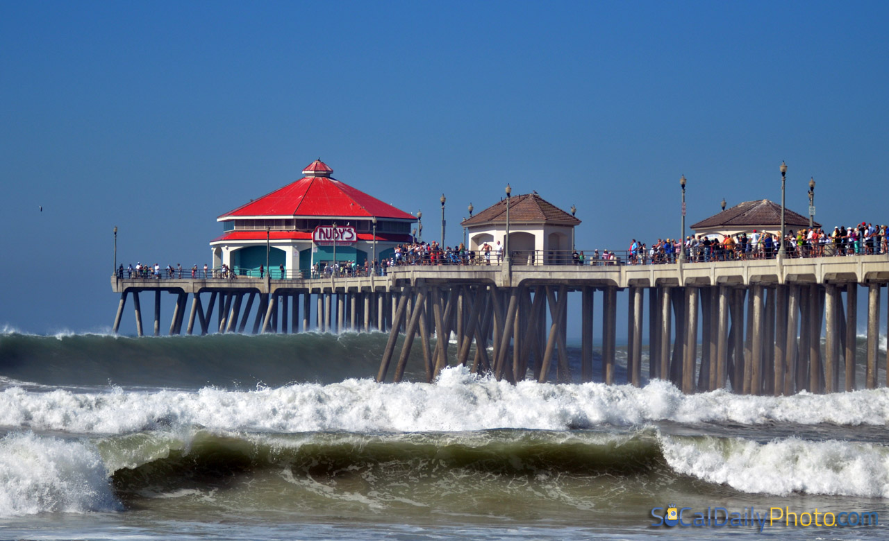 Epic Waves At The Huntington Beach Pier Southern