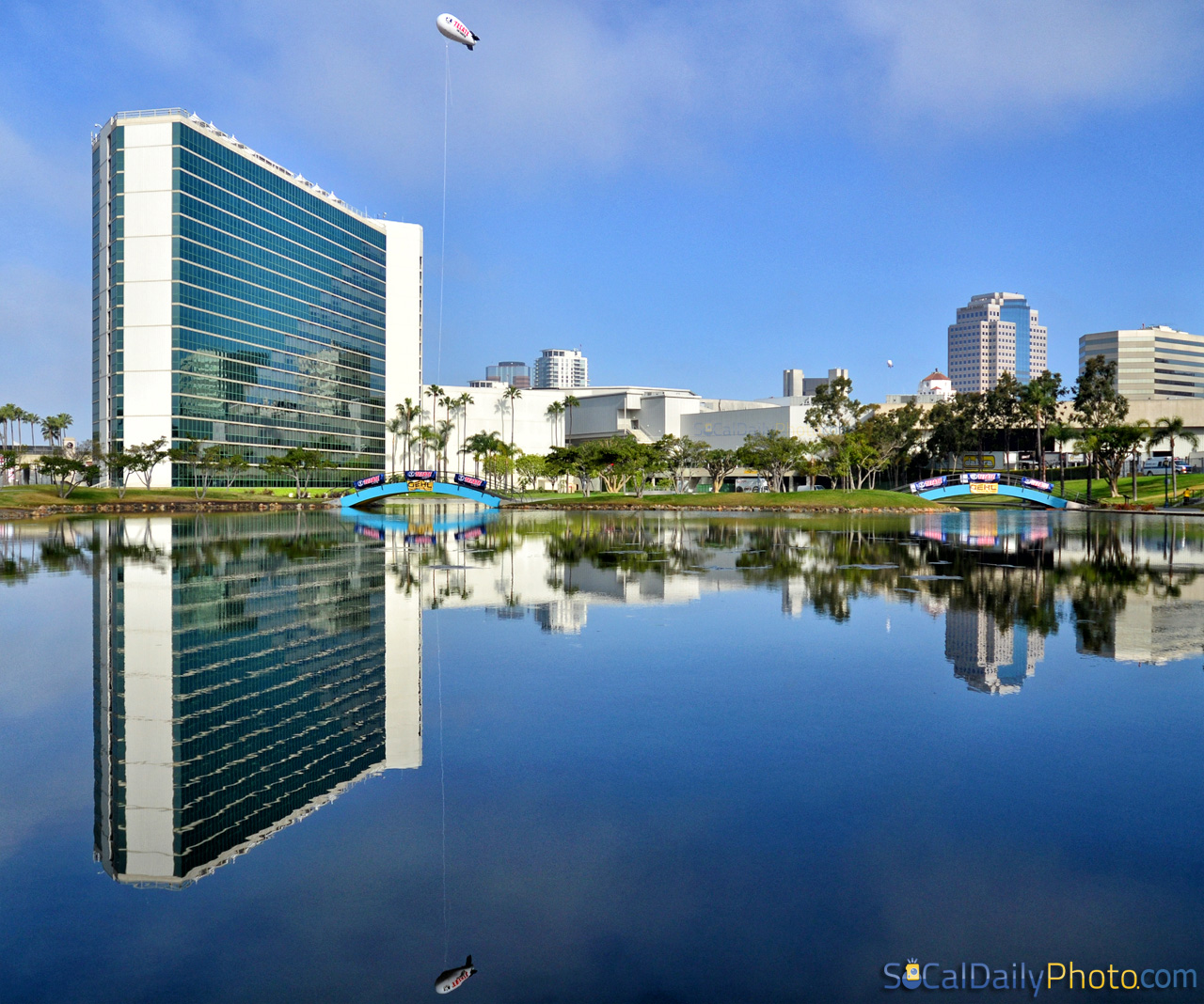Long Beach Hyatt Regency Lagoon Reflection